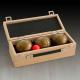 Coffret bois - 3 boules