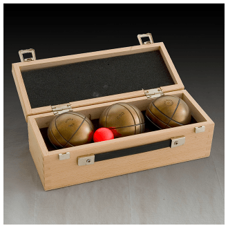 Wooden Boules Case - 3 Boules