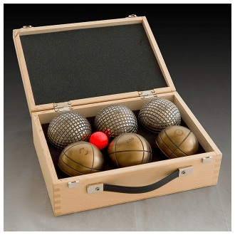 Coffret bois - 6 boules
