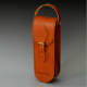 Sacoche 3 boules cuir marron de luxe by Tassin-Cuir