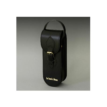 Sacoche 3 boules cuir noir de luxe by Tassin-Cuir