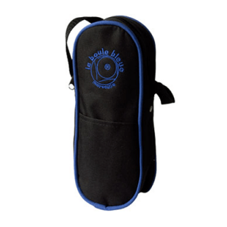 Nylon Canvas Boules Bag - Black/Blue