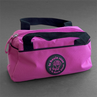 Pink Horizontal Canvas Boules Bag